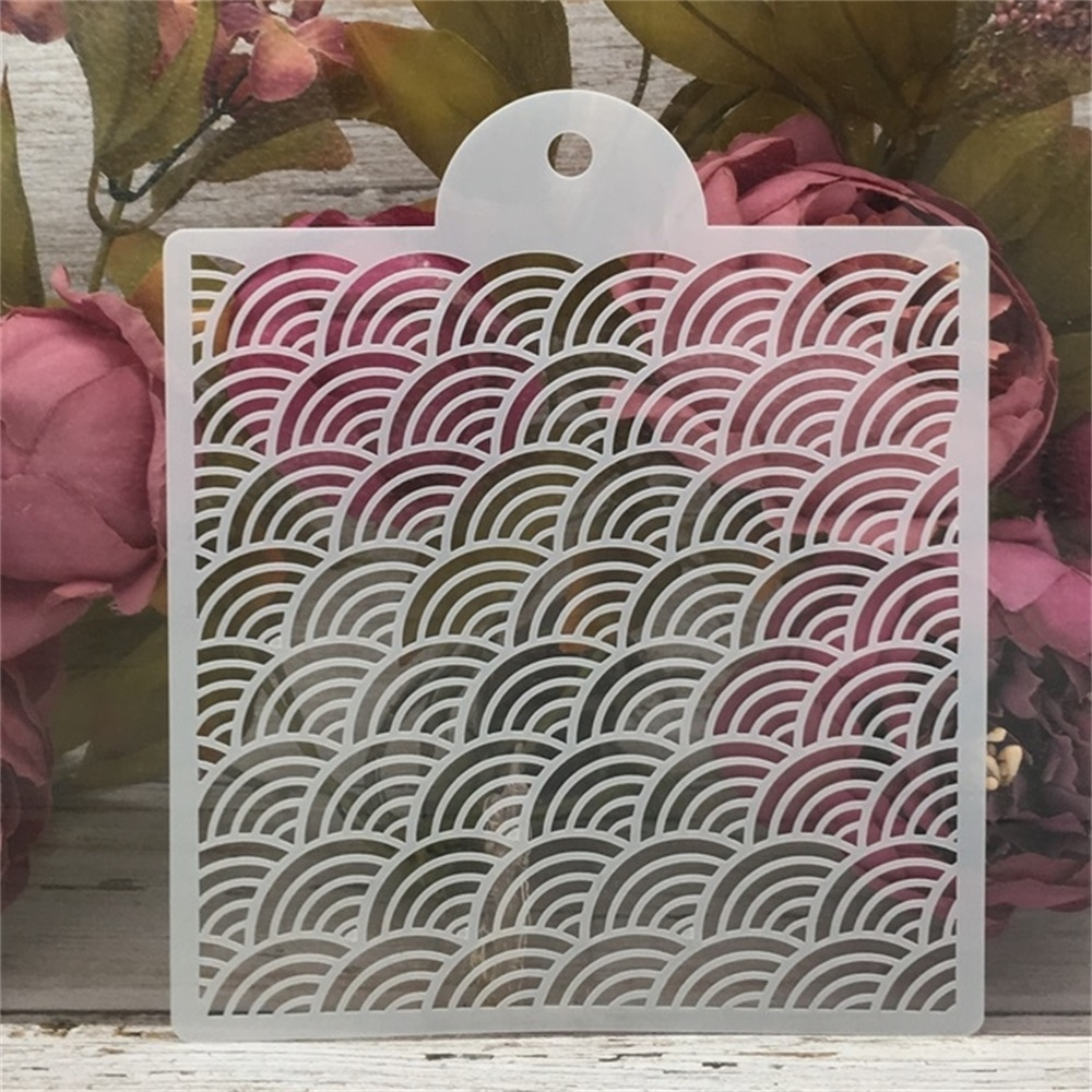 15*17.5cm Wavy Matrix DIY Craft Layering Stencils Painting Scrapbooking Stamping Embossing Album Paper Card Template