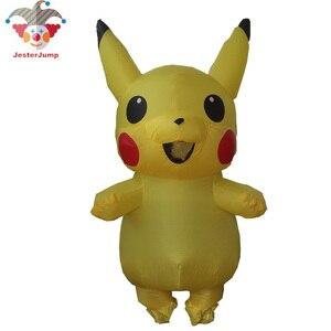 Image 3 - Người lớn Minion Trang Phục Bơm Hơi Minion Baymax Anime Cosplay Pikachu Linh Vật Lạ Mắt Đầm Halloween Minion Trang Phục Dành Cho Nữ