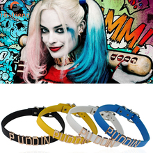 Suicide Squad necklace clown female puddin letter Harleen Quinzel neck chain collar neckband