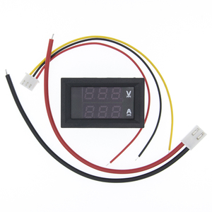"""Image 3 - 50pcs DC 0 100V 10A Digital Voltmeter Ammeter Dual Display Voltage Detector Current Meter Panel Amp Volt Gauge 0.28"""" Red Blue"""