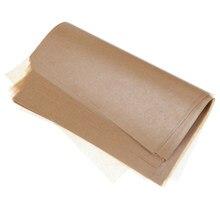 50 feuilles de papier d'emballage de bonbons bruns jetables, papier d'emballage de savon Sandwich cire à usage domestique en cuisine