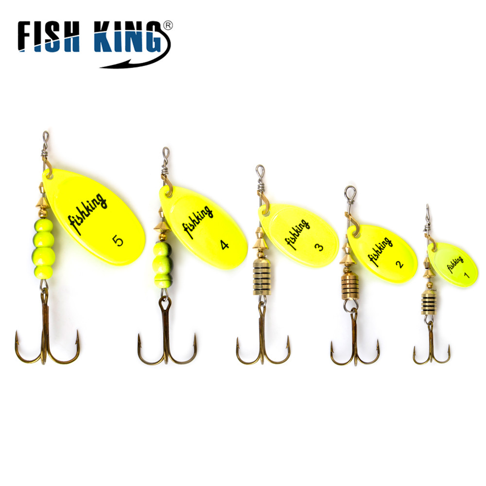 FISH KING Spinner Bait Spoon Lures  6