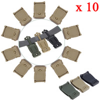 Correa de enlace con hebilla táctica, bolsa de mochila, kit de conexión molle, cierre de correa, Clip de cinturón, equipo de sujeción de accesorios, 10 Uds.