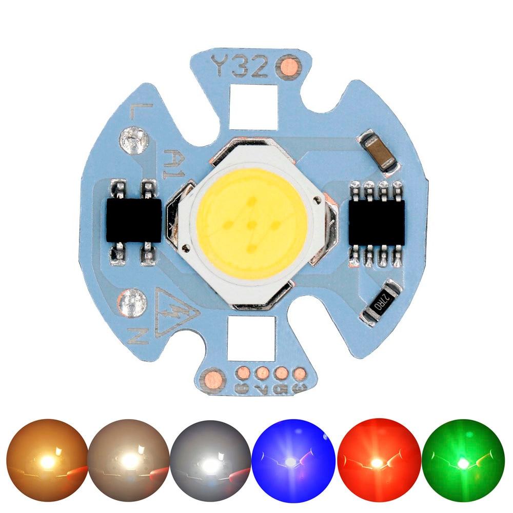 LED COB Chip SMD Light-Emitting Diode 3W 5W 7W 9W 15W RGB LED AC220V No Need LED Driver Smart IC Bulb Lamp For Spot Lampada Led