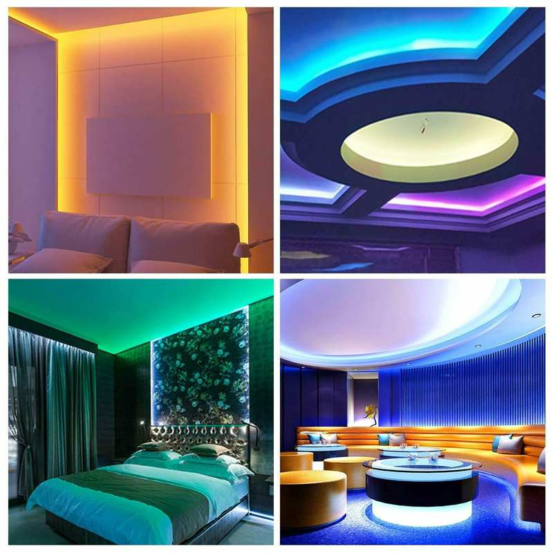 cheapest WIFI Controller RGB LED Strip Light SMD 2835 5M Waterproof RGB Tape DC12V Ribbon Diode Led Strip Light Home DIY Decoration Lamp