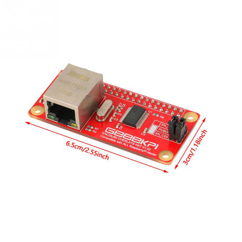 raspberry pi Raspberry Adapter Raspberry Pi Zero with ENC28J60 Network Adapter Module DIY Learning Kit Compatible with all RaspberryPI Models (3)