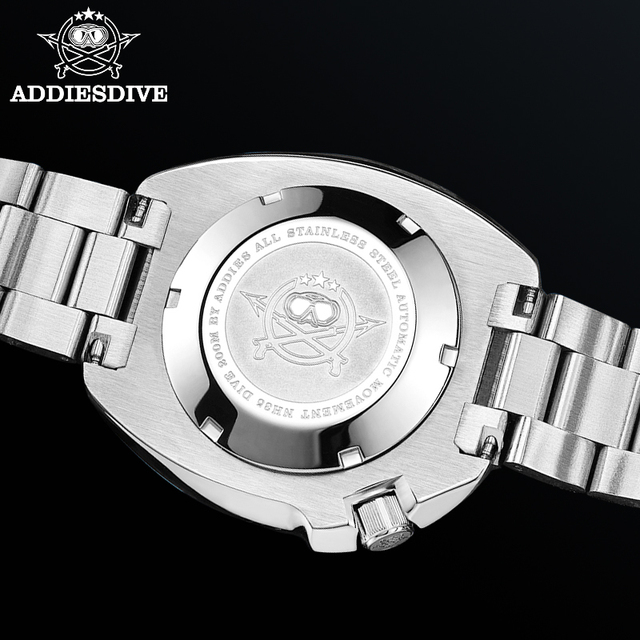 1970 Abalone Dive Watch 200m Sapphire crystal calendar NH35 Automatic Mechanical Steel diving Men's watch 2