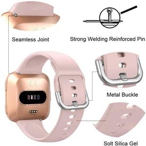 Image 2 - Duszake – bracelet de rechange pour Fitbit Versa/Versa 2, réglable, en Silicone, pour montre intelligente