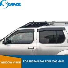 цена на Side window deflectors For NISSAN Paladin 2006 2007 2008 2009 2010 2011 2012 Window Visor Vent Shades Rain Deflector Guards SUNZ