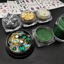 1 Set Nail Art decorations Rhinestones 3D Crystal Charms Nails Accessories Diamonds Decorations Tools New Arrival