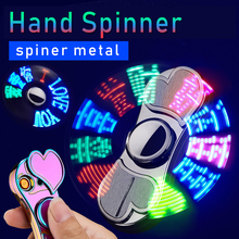 Adult Toys Colorful Luminous Metal Fidget Spiner Hand Spinner Top Spinners Stress USB Charging Lighters Fingertip Gyro Gift E 2017 gears fidget spinner fingertip finger top gyro toys edc adhd fidget hand spiner spiral desktop anti stress finger game