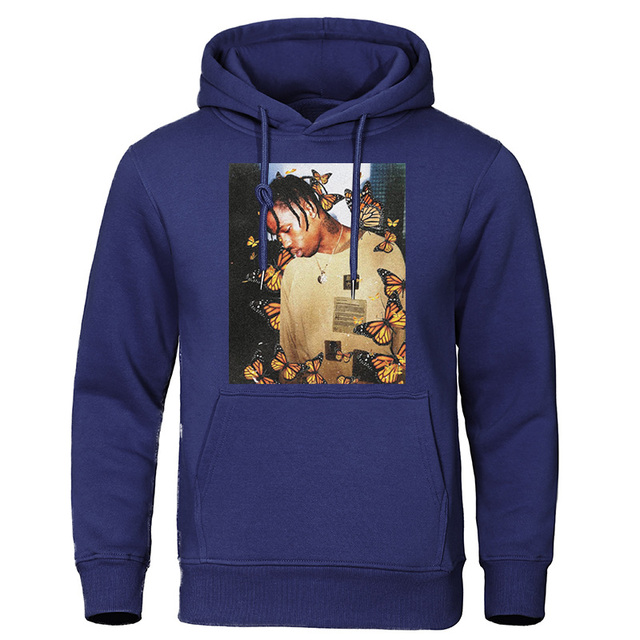 2019 Autumn Winter Men's Hoodies Travis Scott Butterfly Fashion Tracksuit Effect Rap Music Sweatshirts Man Pullover Hip Hop Tops 8