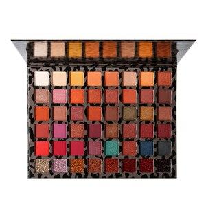 Image 2 - Палитра теней для век DELANCI Pro, теплые нюдовые тени для век 48 цветов, естественные бронзовые дымчатые тени для век, матовые мерцающие блестящие тени