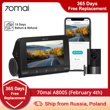 70mai A800 Dash Camera with 4K HD resolution Sony IMX415 GPS Built-in 24H Parking DVR