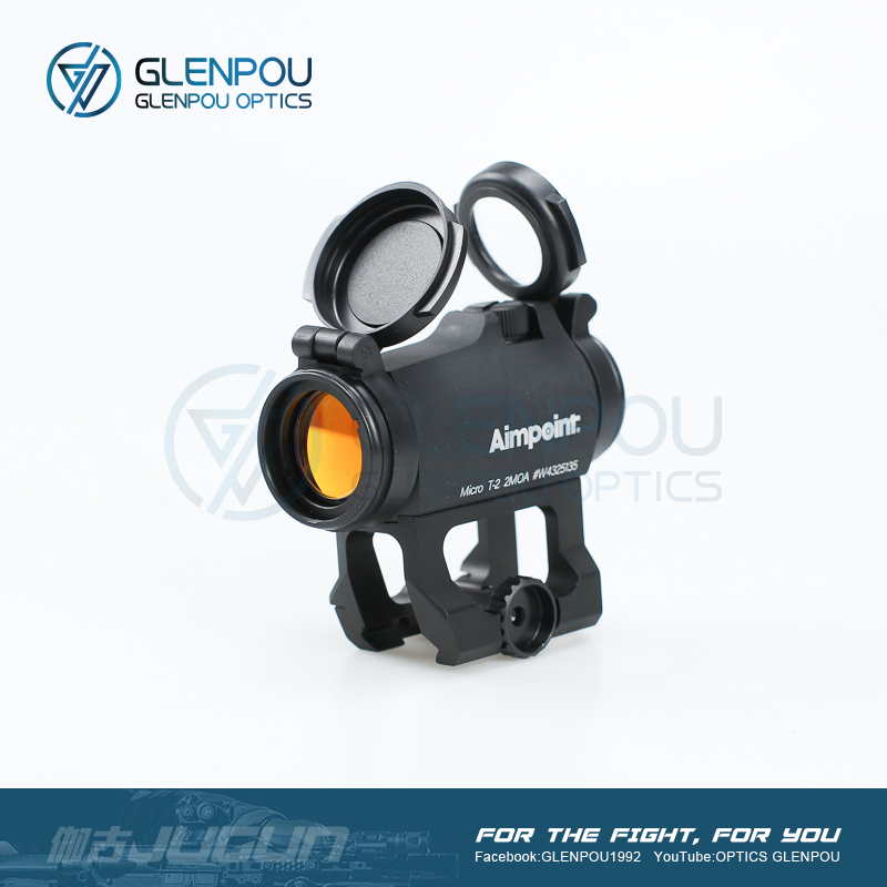 GLENPOU Aimpoint Tactical Dot Sight 1X24 H2T2 Balsaming Lens Rifescope Sight Illuminated Sniper Red Dot Sight With Quick Release