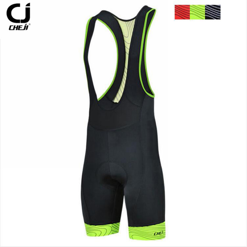 CHEJI Bicycle <font><b>Bib</b></font> <font><b>Short</b></font> CHEJI Men Outdoor Wear Bike Bicycle Cycling 3D Padded Riding <font><b>Bib</b></font> <font><b>Shorts</b></font> S-3XL 3Colors Cycling <font><b>Bib</b></font> <font><b>Shorts</b></font> image