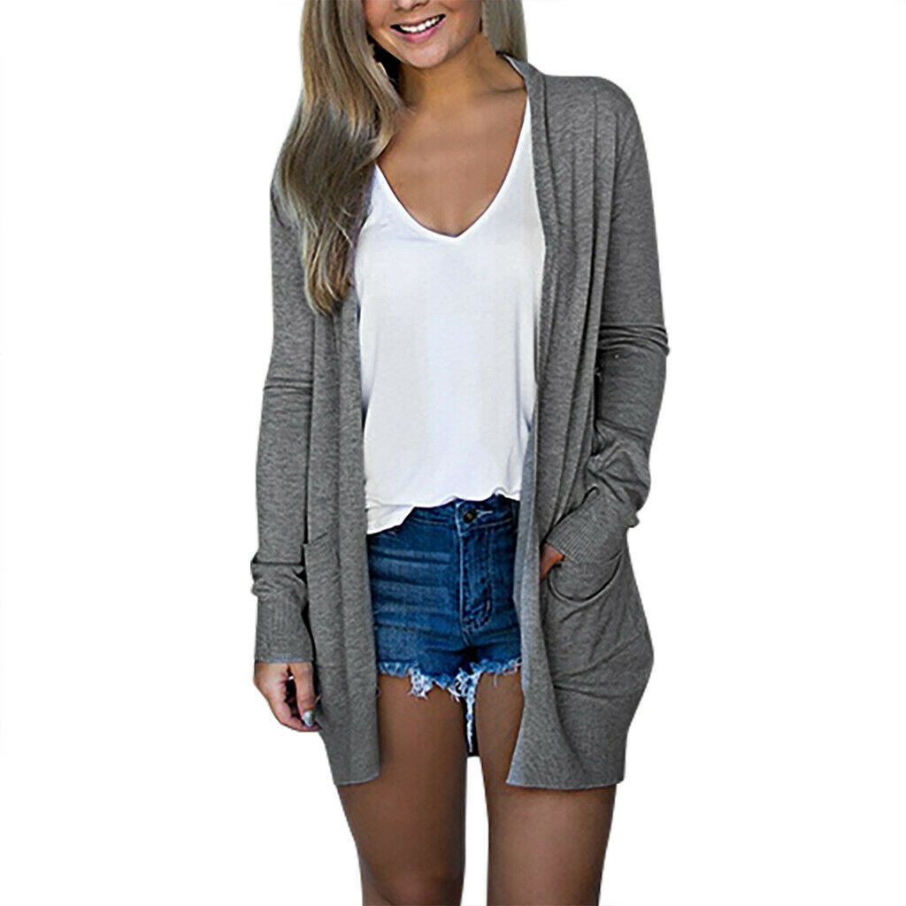 Большой размер, женский длинный свитер, Женский вязаный кардиган с длинным рукавом, свободный свитер, Осенние повседневные топы, верхняя од...