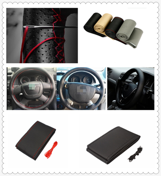 Car DIY Braided Hand Sewing Steering Wheel Cover S M L Code Auto Parts for BMW M8 M550i M550d M4 M3 M240i M140i 530i 128i image