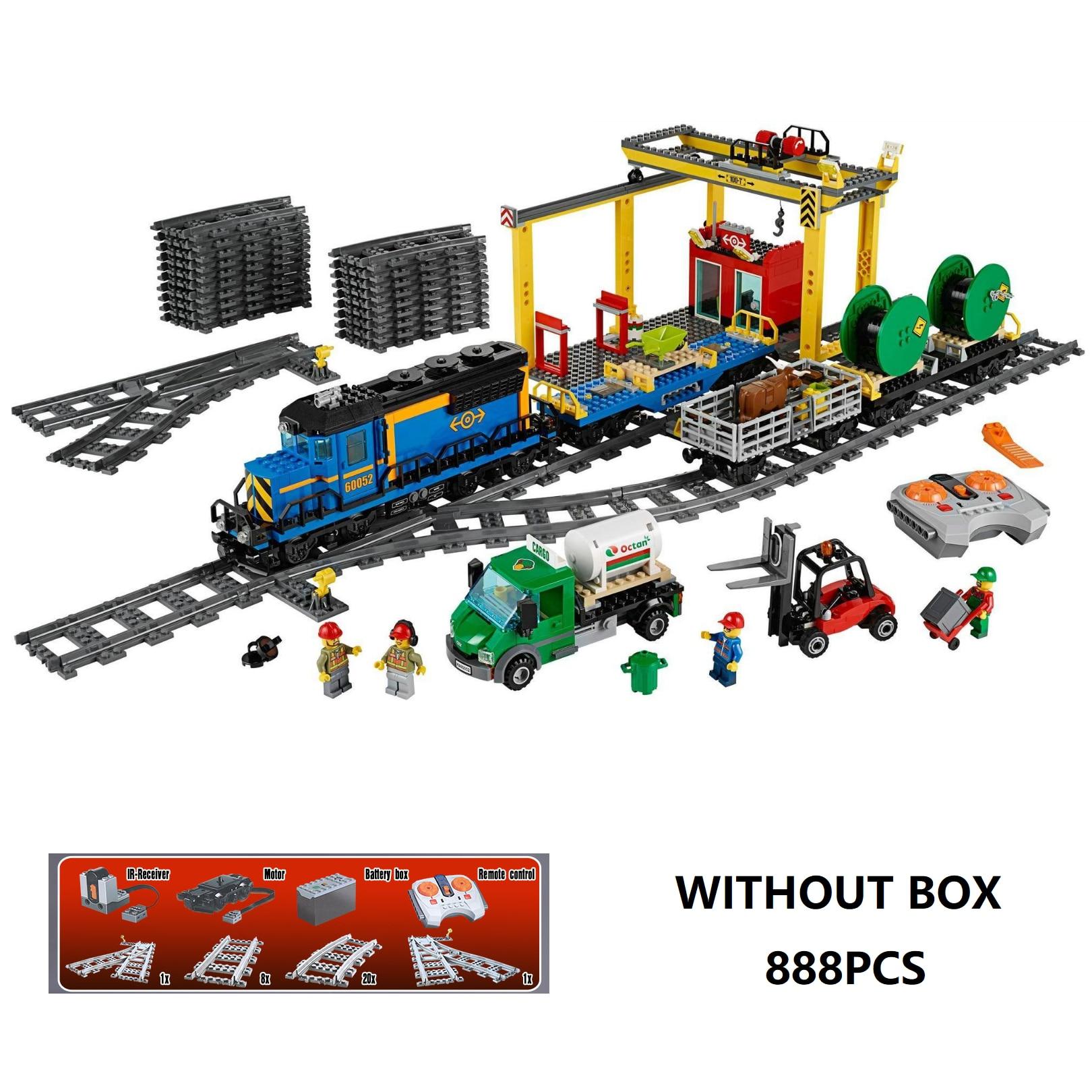 DHL 02008 série de Train de ville le Train de fret mis Playmobil 60052 blocs de construction briques jouets comme compatibles cadeaux de noël legoed