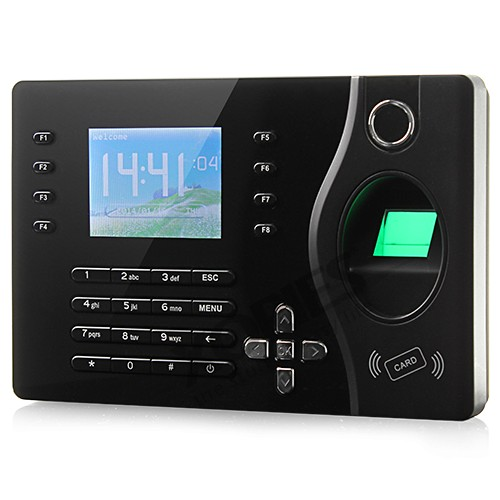 HOMSECUR New Biometric Fingerprint Attendance Time Clock With RFID Card Reader+TCP/IP+USB