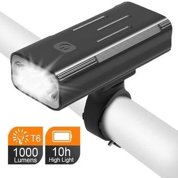 WasaFire 1000 Lumen Bike Light USB Rechargeable Bicycle Light T6 LED MTB Headlight Super Bright 5200mAh Cycling Front Head Lamp