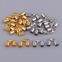20x Metal kaplama kolye bilezik kapaklar ıstakoz kanca Kumihimo boru ucu kapakları