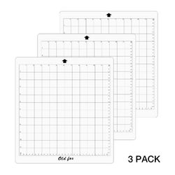 3Pcs Replacement Cutting Mats For Silhouette Cutting Plotter 12x12 Inch Adhesive Clear Mat With Measuring Grid