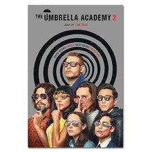 Новинка 2020, настенный плакат в виде зонтика для телевизора, украшение для комнаты, фотоплакаты, сезон 2, картина из фильма