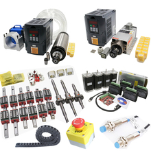 CNC kit C7 ballscrew SFU1605+linear guide HGR20+Nema 23 Stepper motor with Driver+2.2KW water cooled spindle  air cooled set