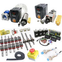 CNC kit C7 ballscrew SFU1605+linear guide HGR20+Nema 23 Stepper motor with Driver+2.2KW water-cooled spindle air-cooled set