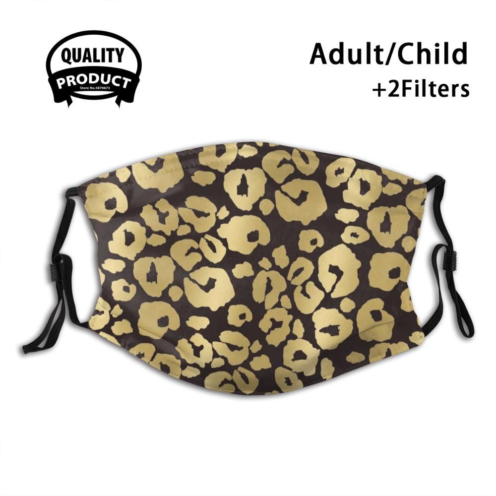 My Jaguar Leopard Print By Airam Gold Golden Glamour Touch Dark Chocolate Brown Half Face For Men Women Ladies Diy Masks