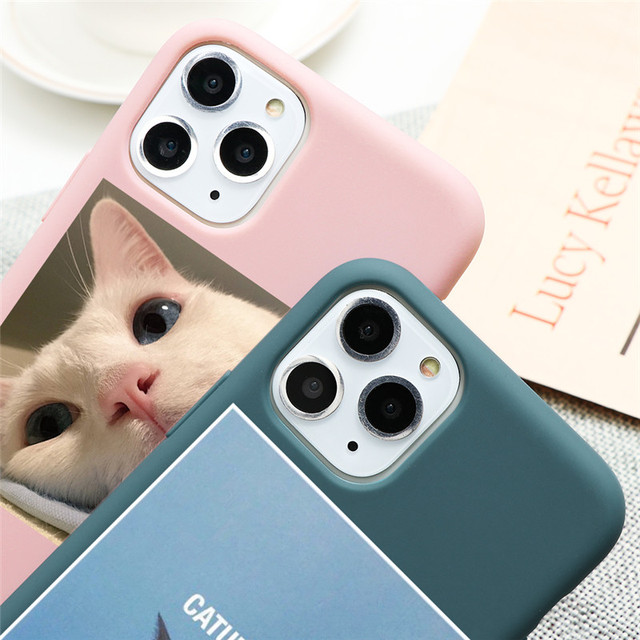 Cute Cat Dog Animals Case For iPhone 7 8 6 6s Plus 5 5S SE 2020 Candy Color Soft Cover For iPhone 12 11 Pro XS Max XR X TPU Case 3