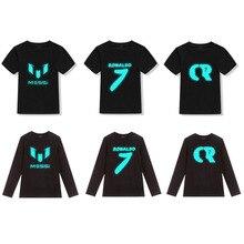 Boy t shirts for children Cotton luminous tops shirt boys girls Casual Tops fashion kids autumn Childrens Clothes
