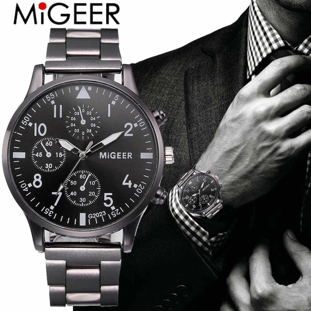 Luxury Wrist Bracelets Fashion Crystal Stainless Steel Watches for Men Business Quartz Analog Wristwatch Relogio Masculino P20