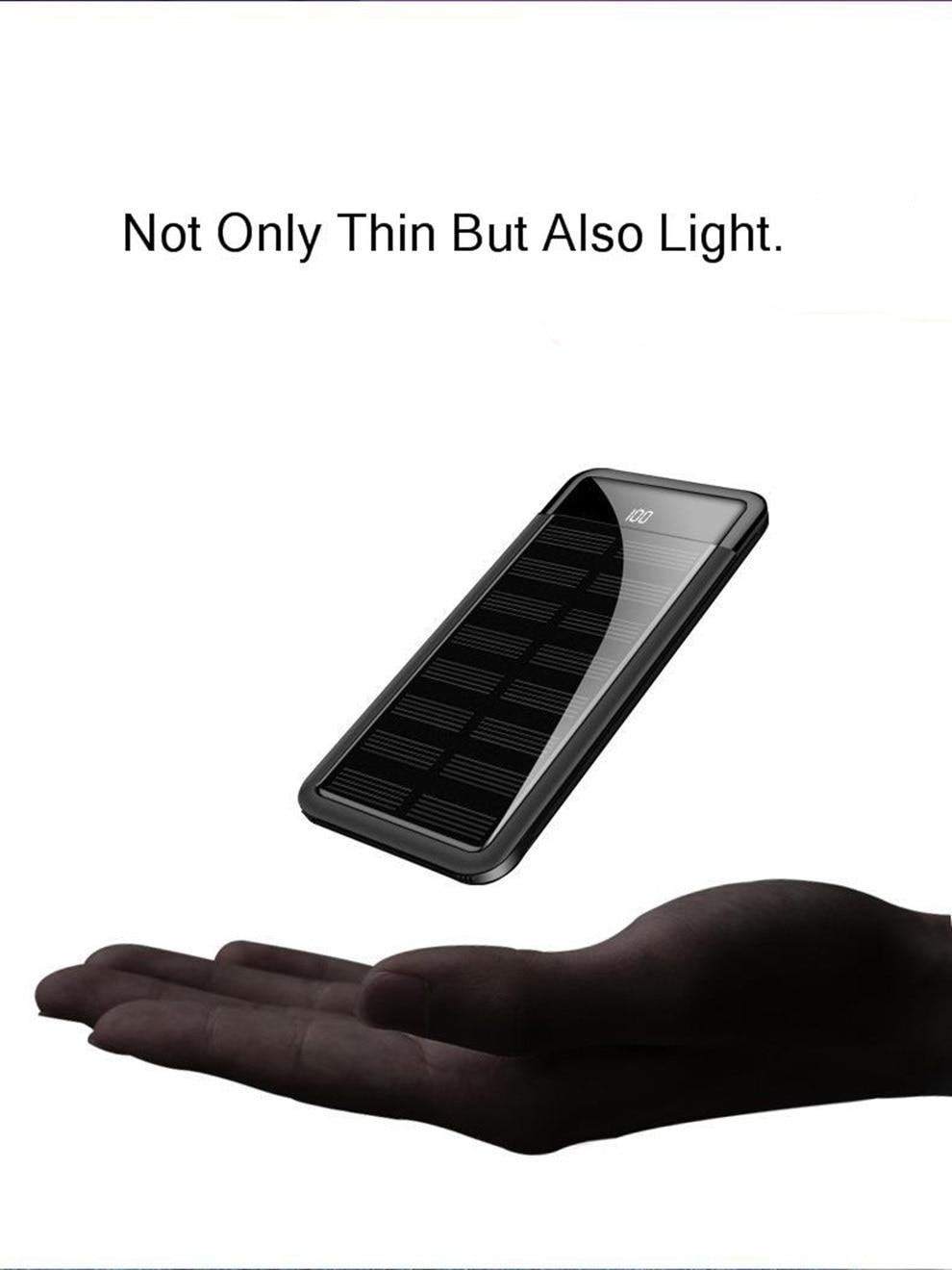 Vogek Portable Mini Solar Power Bank 10000mah 16
