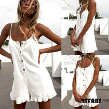 Goocheer Sexy Women Solid Playsuit arrival Rompers Summer Beach Casual Mini Shorts Dress
