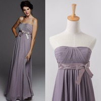 2015 high waist long bridesmaid dresses for weddings custom Pregnant woman chiffon Sexy party gown vestidos para festa