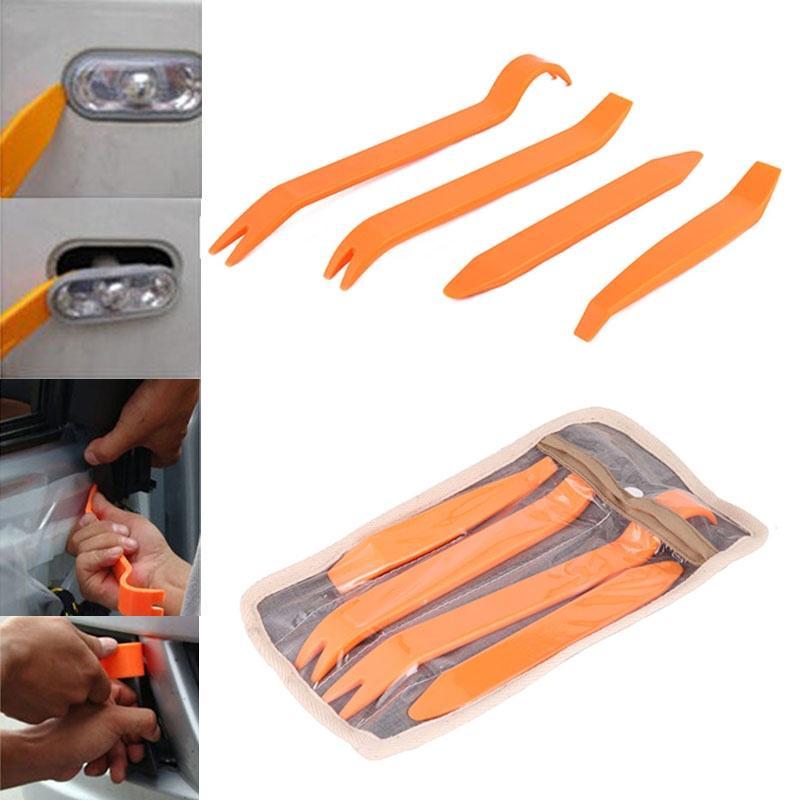 4Pcs Auto Car Radio Panel Door Clip Panel Trim Dash Audio Removal Kit Repair Hand Cockpit Pry Tool Accessories