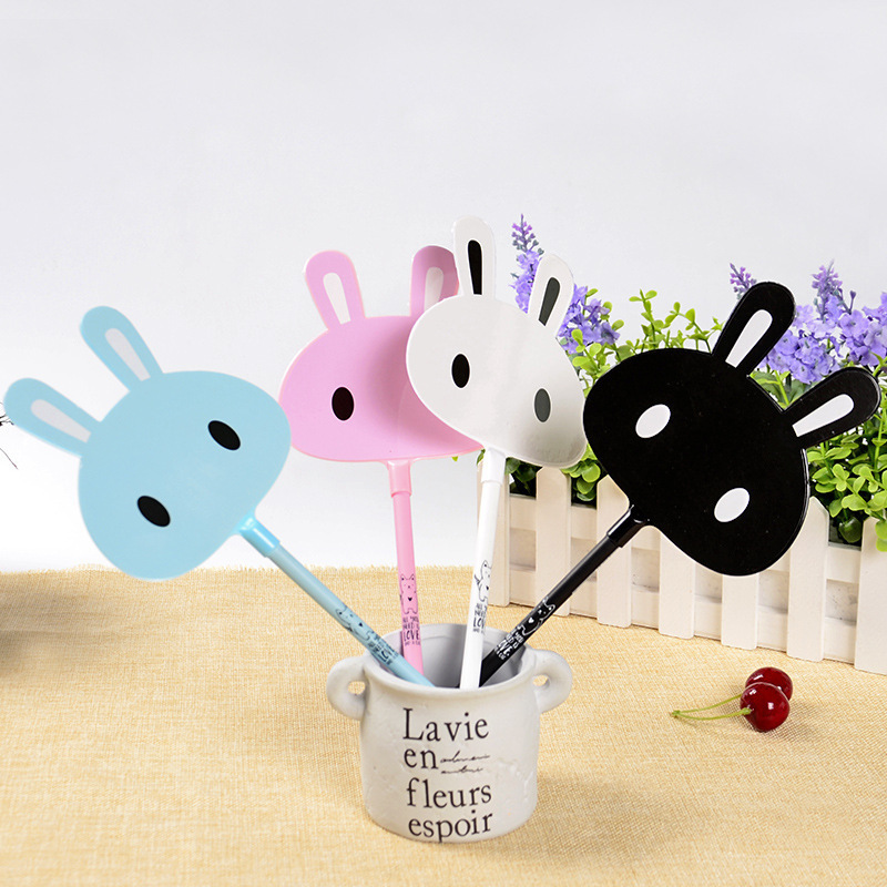 1pc Easter Bunny/ Cat  Writing Pen Students , Children's Cute Objects Stationery Supplies Color Random Delivery