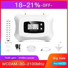 Hot!!3G Signal repeater 3G 2100MHz Handy Signal Booster 3G handy Verstärker kit mit Yagi + decke antenne Kit für den heimgebrauch