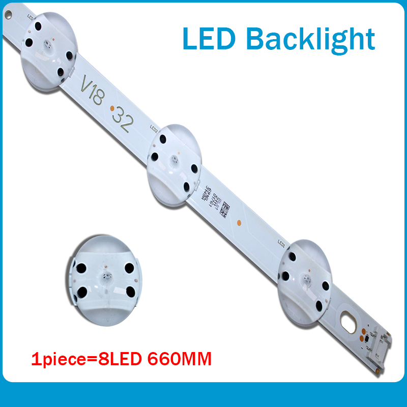 New 20 PCS/lot 8LED(3V) 660mm LED Backlight Strip For LG 32inch TV 6916L-3148C V18 32 V18 DRT 3148