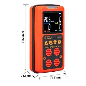 Image 5 - 4 в 1 многогазовый детектор, газовый монитор, кислород, О2, сульфид водорода H2S, датчик угарного газа, CO, горючих газов, LEL, газоанализатор, измеритель