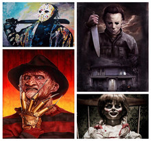 "Full Square Drill 5D DIY Diamond Painting ""Horror IT film characters"" diamond Embroidery Cross Stitch Mosaic Decor special gift(China)"