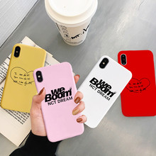 JAMULAR NCT DREAM We Boom Fireflies Fitted Case For iPhone 7 X XS MAX XR 8 6 6s Plus Fashion Trend Soft Phone Cover Matte Fundas