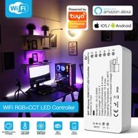 GLEDOPTO DC12-24V RGB + CCT/RGBW Tuya inteligente controlador de tira LED voz por WiFi Control con Echo Google vida inteligente APP