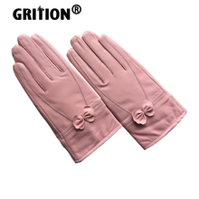 Women Gloves Driving Cold-Protection Winter Genuine-Leather Keep-Warm Ladies GRITION