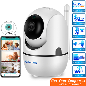 H.265 1080P Cloud WiFi Camera Auto Tracking AI Human Detect Smart Wireless Home Security Video Surveillance CCTV