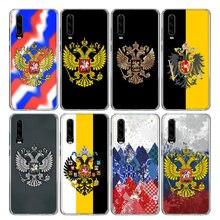 Brasão de armas da rússia Bandeira Caso Do Telefone Para Huawei Honra 10 9 Lite 8A 8X 8S 7A 7X 9X 20 10i Y5 Y6 Y7 Y9 V20 V30 Pro Coque Capa Capa