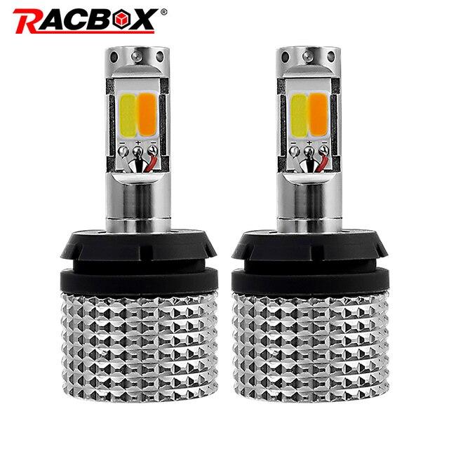 Racbox 2 adet araba LED dönüş sinyalleri işık 30W COB 1156 1157 3156 3157 T20 7440 7443 WY21W DRL led gündüz farı işık dönüş