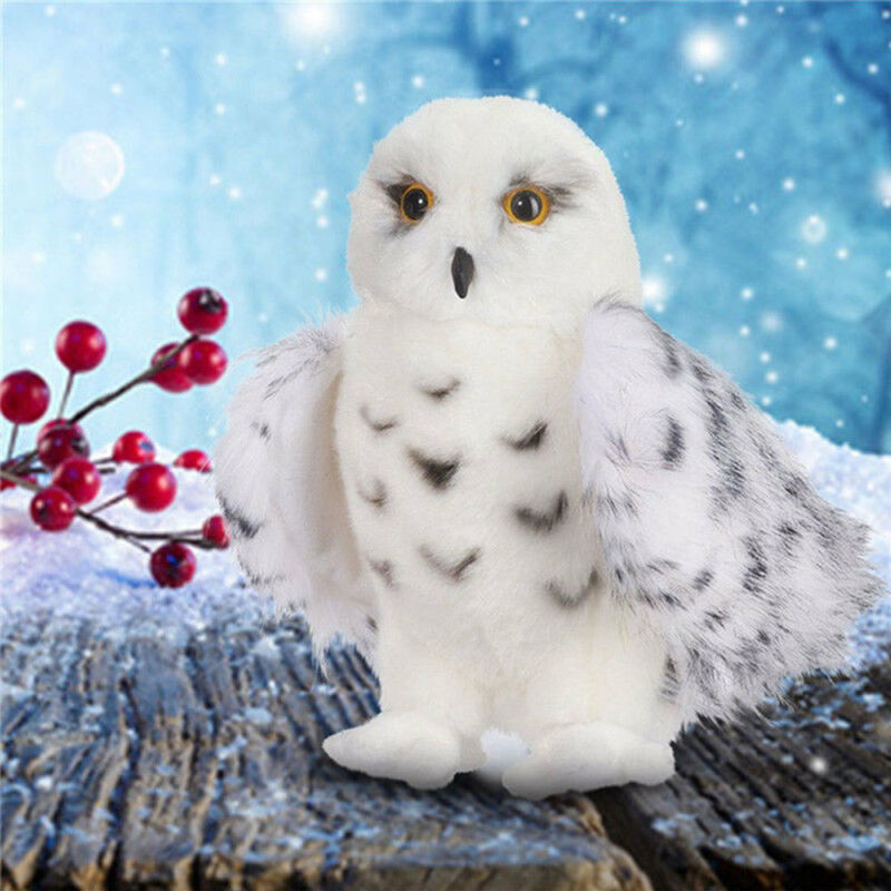 Wizard Snowy Owl Plush Toy Stuffed Animal Hedwig Potter Owl Baby Girl Boys Birthday Gifts
